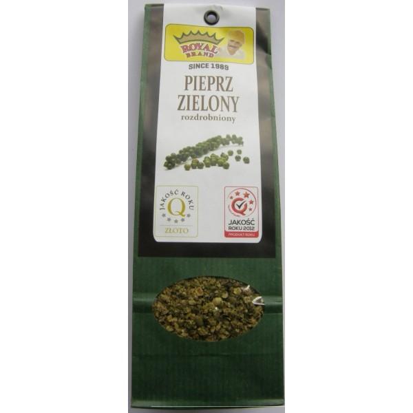 Pieprz zielony rozdrobniony 40 g.