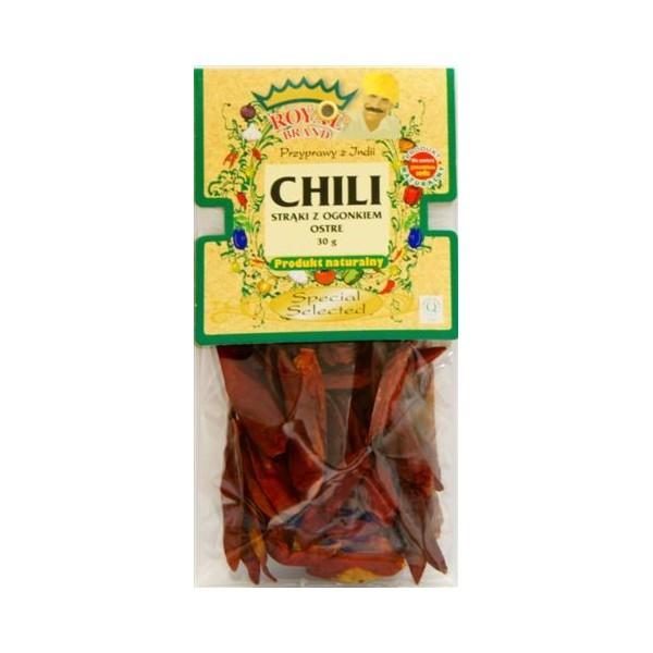 Chili strąki z ogonkiem ostre 30 g